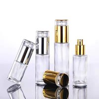 Empty Refillable Clear Glass Pump Bottle(10ML~120ML) for packing Lotion, Cream Cosmetic Jars Travel Small Container 20g 30g 50g