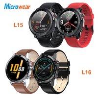 Microwear L15 L16 Smart Watch Hommes IP68 imperméable SmartWatch ECG PPG Pression sanguine Récompense cardiaque Sport Fitness Smartwatch pour VIPG