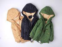 Vår barn utomhus fleece jackor för pojkar kläder hooded dragkedja varm ytterkläder baby windbreaker barn vinterrockar blazer