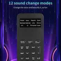 Voice Changer Microphone Mini Sound Card 12 Change Modes For Phone Computer PC Game Machine Halloween Christmas Gift Microphones