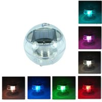 Solar Powered Waterproof LED Pool RGB Floating Light Outdoor Garden Pond Landscape Colorful Changing Night Lamps Decor Party Decoration