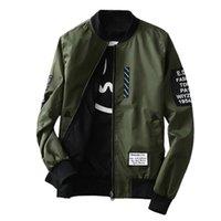 Thin Slim Fit Men Wind Breaker Jackets Bomber Autumn Winter Fashion Overcoat Army Green Black Plus Size Coat M-4L