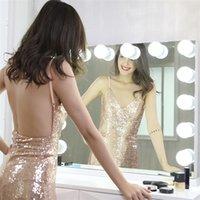 مرآة مكياج هوليوود مضاءة مرآة مع 15 لمبات قلابة استبدال، تضيء طاولة خلع الملابس بدون فرملس أوضاع متعددة، أعلى الجدول أو جدار جبل