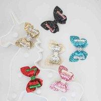 Define Childr Glitter Arcos Brilhantes Borboleta Pin Side Clip Lantejoulas Headwear Acessórios De Cabelo De Natal Meninas Crianças