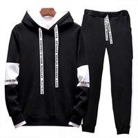 Fashion Running Designer Designer Sportswear Suit da uomo Felpa con cappuccio + Pantaloni Casual Giacca di alta qualità 2020 Abito in due pezzi M-4XL