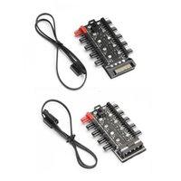 Fans & Coolings Motherboard 1 To 10Pin Fan 4 Pin PWM Cooler Hub Splitter Power Supply Socket PC Speed Controller Adapter