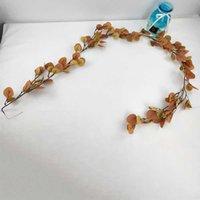 Sztuczny kwiat liście Tropikalne Dekoracje Ślubne Stół Runner Home Wedding Decoration Home Garden Decor Nowe liście eukaliptusa