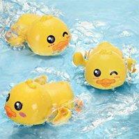 아기 수영 duckling 굴곡 체인 작은 노란 오리 목욕 장난감 소년 소녀 아기