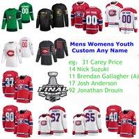 2021 Stanley Cup Final Montreal Canadiens Magliette da hockey Caley Prezzo Jersey Nick Suzuki Brendan Gallagher Josh Anderson Jonathan Drouin uomo cucito personalizzato
