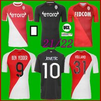 2021 As Monaco Soccer Jersey Special Voland Jovetic Mailleots De Foot Collector 21 22 B.BadiaShile Ben Yedder Gelson Fabreags Golovin Football Shirt