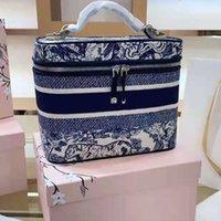الأكثر مبيعا الأزياء الإناث أكياس التجميل مصمم قماش الجمال حقيبة فاخرة سعة كبيرة النمر نمط ماكياج تخزين مربع