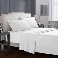 Сплошной цветной постельное белье 4-х частей набор из микрофибры постельное белье наволочка 3/4 наборы листов намазанные подушки для матрасов