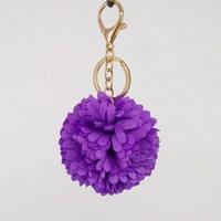 Kimter mujeres flor maquillaje llavero llavero espejo de labios bolsa decorativa colgantes encantos llaveros accesorios accesorios joyería de moda regalos p66fa