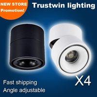 110V 220V Preto Fayer Branco Superfície Downlights Montagem de Montagem LED Teto Downlight Ajustável Espiga de Lâmpada 5W