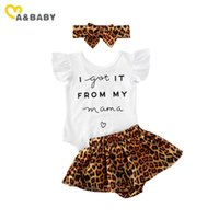 Clothing Sets Ma&Baby 0-24M Summer Born Baby Girl Clothes Set Leopard Outfits Letter Bodysuit+Shorts+Headband Cute