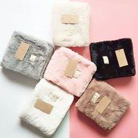 Australien Design Schals Winter Plüsch Schal Frauen Weiche Fleece Hals Gaiter Luxurys Label Warme Kurzer Halstuch Damen Outdoor Schals 6 Farben