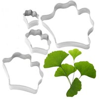 Cake Tools 1 Set Ginkgo Biloba Leaf Shape Stainless Steel Biscuit Cutters Mold Wedding Party Birthday Fondant Decorating