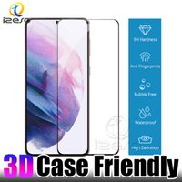 Case Friendly Screen Protector per Samsung Galaxy S21 Plus Nota 20 Ultra S20 S10 Fingerprint Unlock curvo HD Clear Temsed Glass Film Izeso