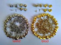 Guld Silver Brass Tie Tacks Låsstift Backs Keepers Savers Hållare Lås Clasp Koppling Smycken Findings Brosches Kläder