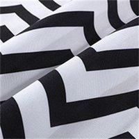Schwarz-Weiß-Streifen Baumwollbetten Bett-Bett-Bettläufer-Wurfhaushotel-Schlafzimmer Bettwäsche-Dekor Bett-Tail-Handtuch 390 R2