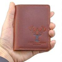 Card Holders Personalized Vintage Handmade Genuine Leather Holder Driver License Id Wallet Minimalist Cardholder 8.5*10.5CM