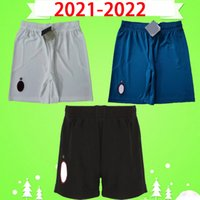 21 22 Ibrahimovic AC Fussball Shorts 2021 2022 Calhanoglu Milan Brahim Rebic Theo Tonali Mens Fußballhose Romagnoli Home Schwarz Away White Blue S-2XL