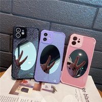 Glitter Mirror Phone Cases For IPhone 11 12 Pro XS Max XR 7 8 Plus Se2020 Luxury Fashion Designer With Lens Protect Bumper Ladies Vanity Mirrors Protective Cover