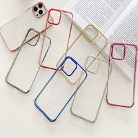 TPU suave claro cromado de lujo para iPhone 13 Pro Max 2021 min de placas metálico transparente electrochlating smart phone cubierta posterior