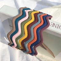 Cintas de plástico de color puro con dientes diadema multicolora para hombres mujeres unisex banda de pelo accesorios 1220109