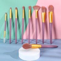 Makeup Brushes 9 Set For Cosmetic Foundation Powder Blush Kit Professional Eyeshadow Kabuki Blending Make Up Beauty Tool Beginer