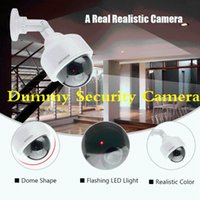 Dummy Surveillance Security Camera Dome Flashing LED Fake CCTV 360 Rotation Realistic IP Cameras