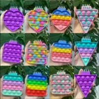 Mini Notebook Push Bubble Fidget Toys Adult Children Anti Stress Relief Toys Antistress Box Squeeze Kids Toys Gifts WHT0228