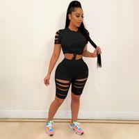 Plus Size Ncyd056 Piece Pants T Shirt Tracksuits Designer Summer Sports set Short suit Dress Crop Shorts Yoga Outfits Casual Women multi-cor