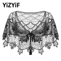 Scarves Womens Vintage 1920s Shawl Sequin Beaded Evening Cape Wraps Flapper Bolero Cover Up For Wedding Party Pageant Fancy Dress