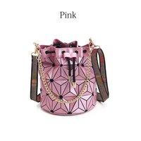 Latest Bucket Bag handbag purse High quality Geometric Handbags Plaid Chain Shoulder Crossbody bags Laser Diamond Bag