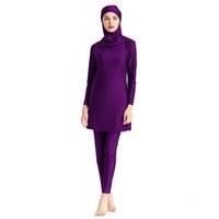 2021 Plus Size 3pcs Swimming Suit For Muslim Fashion Swimwear Women Swimsuit Arabic Turkey Pakistani Islamic Swim Wear