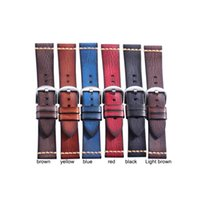 Vintage Leather Watch Strap Band 20mm 22mm 24mm 26mm Handmade Italian Calf