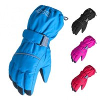 Ski Gloves 80%Kids Outdoor Five-fingers Solid Color Warm Riding Non-slip Mittens