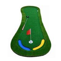 Aides à la formation de golf Crestgolf Matts Metting Trainer Vert Artificiar Putter Puissance professionnelle