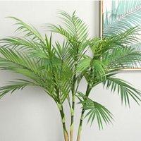 Decorative Flowers & Wreaths 90 CM Green Artificial Palm Leaf Plastic Plants Garden Home Decorations Scutellaria Tropical Tree Fake