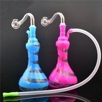 10mm glass beaker bottom bongs new design glass oil burner hookahs heady water pipes bongs with oil burner pipes and hose Dhl free