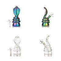 Snake Glass Bong Zwierząt Pipes Water Hookh 2.4 cale Kolorowe Bongs Z Miska Rig Oil Dymu Akcesoria