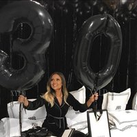 """Party Decoration 2pcs lot 40"""" Large Size Black Gold Number Balloon Digit Air Helium Balloons 30 40 50 Year Old Happy Birthday Decor Ballons"""