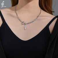 Japan and South Korea Fashion Product Ins Niche Design Feeling Tight Hoop Curse Ot Buckle Leaf Necklace Simple Net Red Jewelry Trendy 4MH457