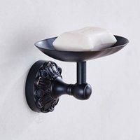 Tallado de jabón retro de lujo europeo Talla de jabón de cobre Black Bronce Baño Accesorios de baño de baño Color de jabón de baño