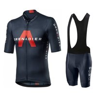 2020 INEOS Grenadier Pro فريق الرجال الدراجات جيرسي ملابس قصيرة الأكمام دراجة مع مريلة السراويل روبا ciclismo C0123