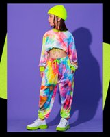 2021 Hip hop style girls clothing set, multicolor sweaters, informal girls' pants, ballroom stage Carnival