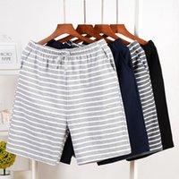 Men's Sleepwear Striped Cotton Pajamas Casual Men Sleep Bottoms Lounge Wear Soft Summer Shorts Nightwear Large Size Pijamas