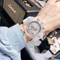 패션 분위기 투명한 여성의 레저 인 온라인 유명 인사 학생 남성과 여성 커플 손목 시계