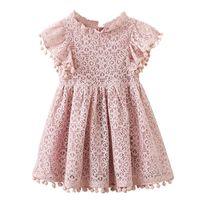 Girl's Dresses Girls Lace Princess Dresses,Kids Summer Flowers Wedding Party Vestido,Baby Sleeveless Dress